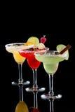 Margaritas - la mayoría de la serie popular de los cocteles Foto de archivo libre de regalías