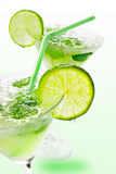 Margaritas with lime stock photography