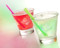 Margaritas with lime Stock Image