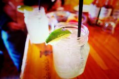 Margaritas. At the local saloon Royalty Free Stock Photos