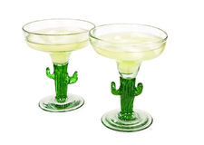 Margaritas on the rocks in cactus glasses Stock Photography