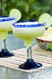 Margaritas surgelées de chaux Photographie stock libre de droits