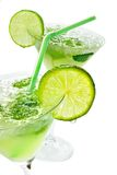 Margaritas With Lime Royalty Free Stock Images