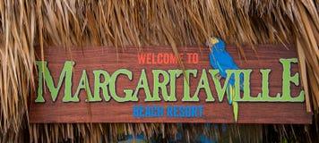 Margaritaville firma adentro Hollywood la Florida foto de archivo