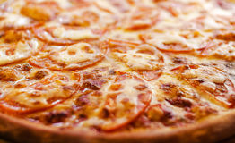 Margaritta pizza with cheese. And tomatoes Stock Photo