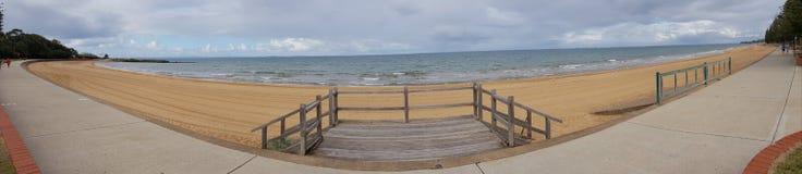Margate och Sutton& x27; panorama- s-strand fotografering för bildbyråer