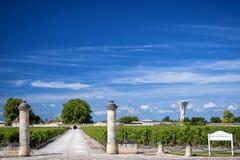 MARGAUX †«ΜΠΟΡΝΤΏ: Πύργος rauzan-Segla με τους αμπελώνες Aquitania, Γαλλία στοκ εικόνες