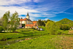 Margecan village on Bednja river Royalty Free Stock Photos
