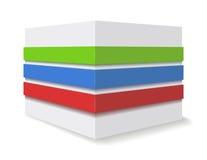 Cube en publicité. illustration stock