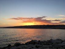 Margellina di sera. Sunset on the beach Royalty Free Stock Photos