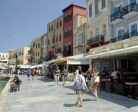 A margem de Chania O console de Crete Fotografia de Stock Royalty Free