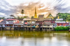 Margem de Chantaboon na província de Chanthaburi, Tailândia Fotografia de Stock Royalty Free