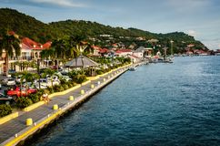 Margem de Gustavia - St Barths Foto de Stock Royalty Free