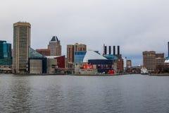 Margem do monte federal Baltimore, Maryland durante o inverno fotos de stock