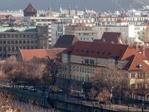 Margem do rio do Vltava de Praga Fotografia de Stock Royalty Free