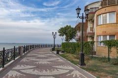 A margem na cidade de Eisk no SE de Azov Imagens de Stock Royalty Free