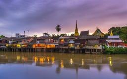 Margem tailandesa clássica da cidade de Chanthaburi Imagens de Stock Royalty Free