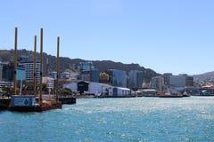 Margem Wellington Harbour do cais de Taranaki Fotografia de Stock