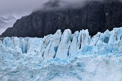 Margerie冰川在冰河海湾国家公园阿拉斯加 库存图片