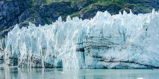 Margerie Glacier in Alaska& x27; s het het Nationale Park en Domein van de Gletsjerbaai Royalty-vrije Stock Afbeeldingen