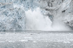 Margerie Glacier Calving Stock Photography