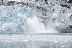 Margerie Glacier Calving, Glacier Bay National Park, Alaska royalty free stock images