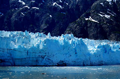 Margerie Glacier deep blue facade  Royalty Free Stock Photography