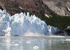 Margerie Glacier Kayaker Stock Images