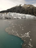 Margerie Glacier - nationalpark för glaciärfjärd - Alaska Arkivbild