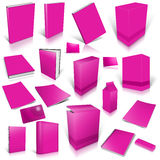 Margeta 3d blank cover collection. Isolated on white Royalty Free Stock Photo