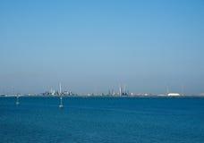 Marghera industriområde i Venedig Royaltyfri Fotografi