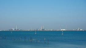 Marghera przemysłowy teren w Wenecja Zdjęcia Royalty Free