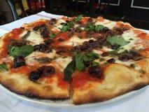 Margherita比萨饼 免版税库存图片