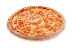 Margherita薄饼蕃茄 库存图片