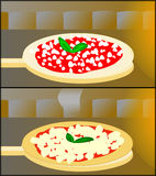 Margherita before and after Stock Photo