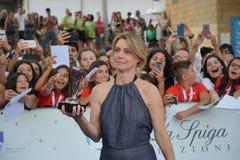 Margherita Buy przy Giffoni Ekranowym festiwalem 2017 Zdjęcie Stock
