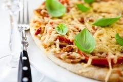 Margherita de la pizza fotografía de archivo libre de regalías