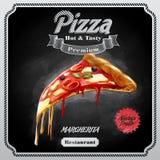 Margherita della pizza del menu Fotografia Stock Libera da Diritti