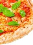 margherita domowej roboty pizza Zdjęcia Stock