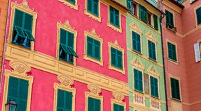 архитектура сказки городка Санты Margherita Ligure стоковое фото rf