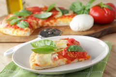 Margherita pizza Royalty Free Stock Images