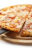 margherita pizza fotografia stock
