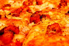 Margherita pizza lub Neapolitan pizza Fotografia Stock