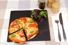 A Margherita pizza Royalty Free Stock Images
