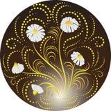 Margherite bianche su un fondo scuro illustrazione di stock