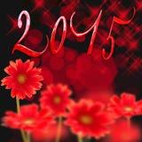 2015 margherite rosse Fotografie Stock Libere da Diritti