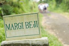 Margi beji sign of bali Stock Image