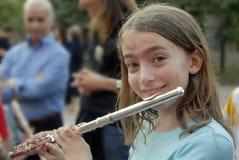 Margie speelt de fluit Royalty-vrije Stock Foto's