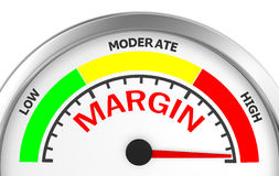Margin. Profit concept image in the highest meter , 3d rendering Royalty Free Stock Images