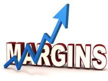 Margin rising stock illustration